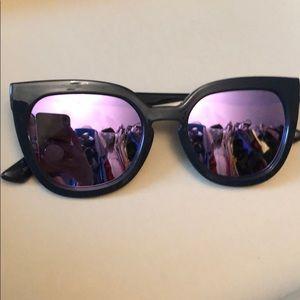 Quay purple and black cat eye sunglasses